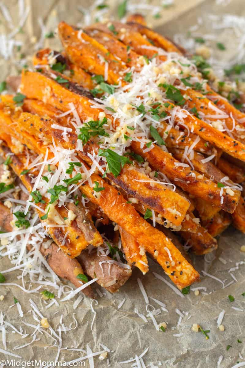 Garlic Sweet Potato Fries