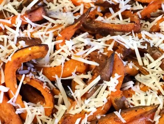 Parmesan Garlic Sweet Potato Fries, Baked Parmesan Garlic Sweet Potato Fries, Easy Parmesan Garlic Sweet Potato Fries.