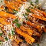 Parmesan Garlic Sweet Potato Fries