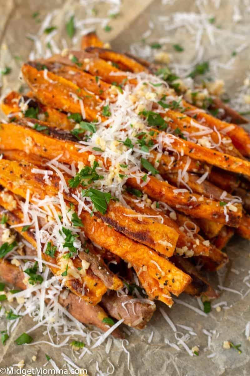 Parmesan Garlic Sweet Potato Fries