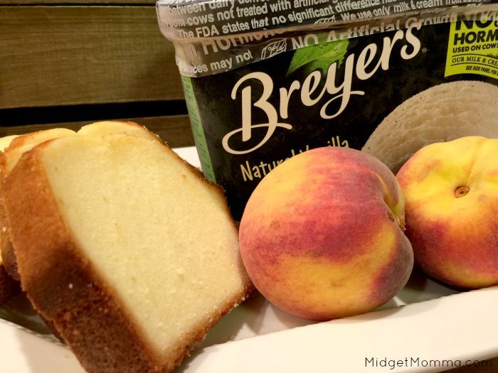 Pound Cake and Peaches Sundaes ingredients