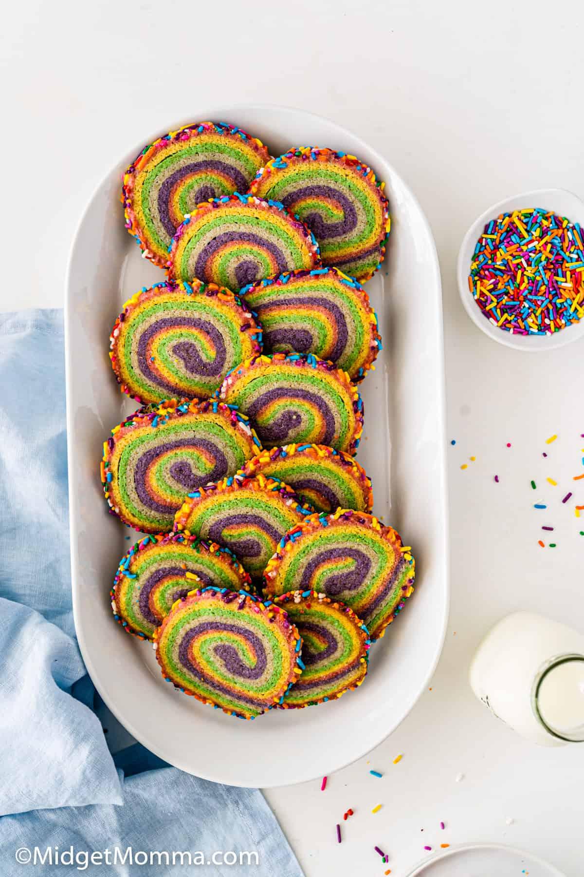 Rainbow Pinwheel Cookies Recipe