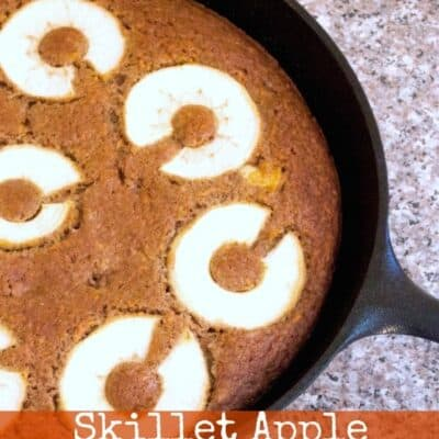 Skillet Apple Carrot Cake. Tasty fall flavors all mixed into one with this Skillet Apple Carrot Cake. Bake it in a skillet or in a baking pan.