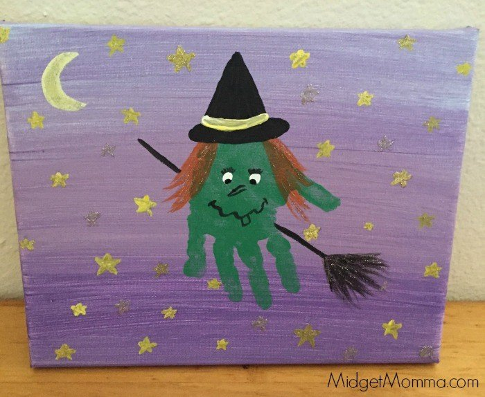 halloween handprint witch