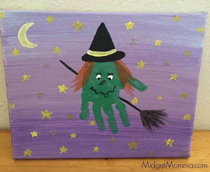 halloween handprint and footprint art witch print memory craft 6671