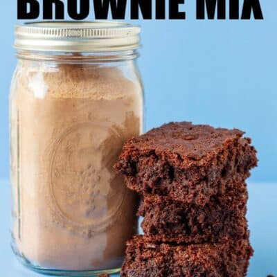 homemade brownie mix in a mason jar