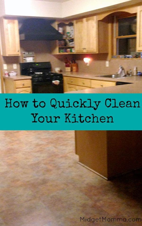 Clean Kitchen Quickly