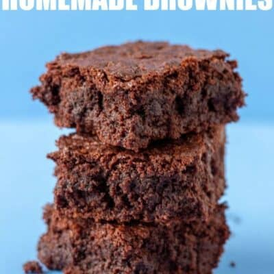 the best homemade brownies stacked