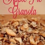 Apple Pie Granola is a great way to start your morning. Prep ahead of time for an easy go to breakfast with this Apple Pie Granola.
