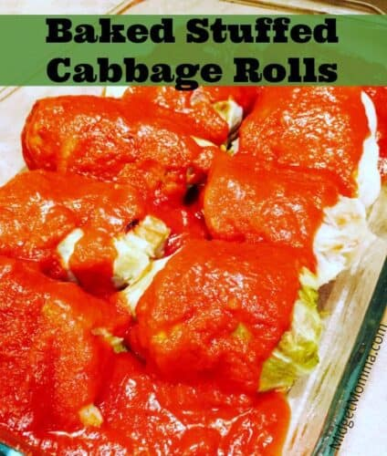 Baked Stuffed Cabbage Rolls Freezer Cooking