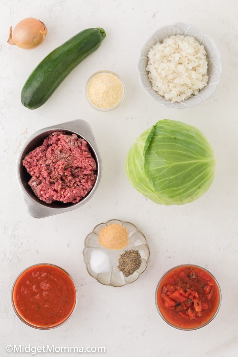Baked Stuffed Cabbage Rolls Ingredients