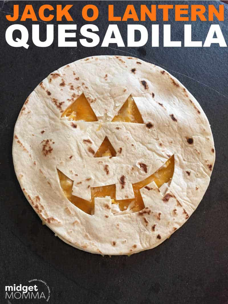 Jack O Lantern Quesadillas RECIPE