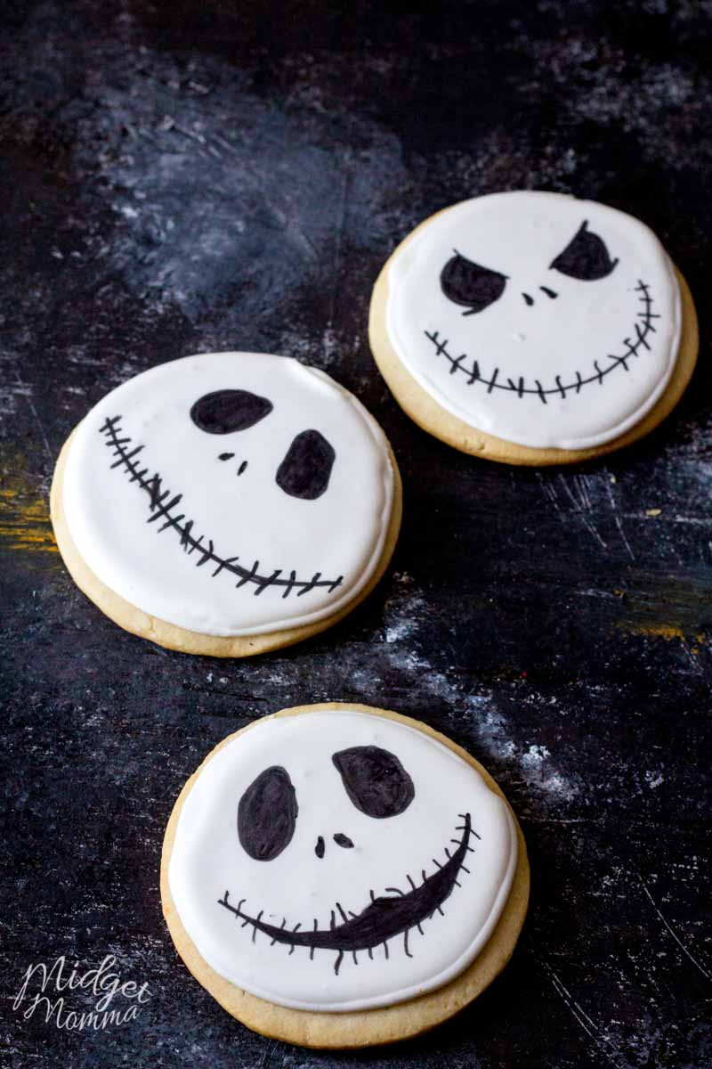Jack Skellington Halloween Sugar Cookies