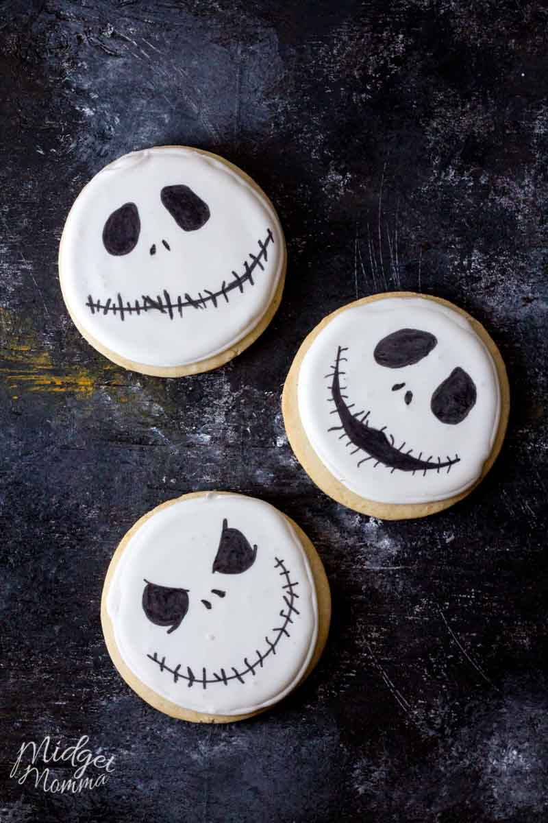 Jack Skellington Homemade Halloween Sugar Cookies