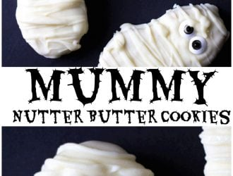 Mummy Nutter Butter Cookies (Halloween Treat)