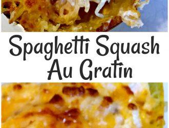 Spaghetti Squash Au Gratin, low carb veggie dinner, easy spaghetti squash, low carb Spaghetti Squash Au Gratin, low carb Au Gratin, keto Spaghetti Squash Au Gratin