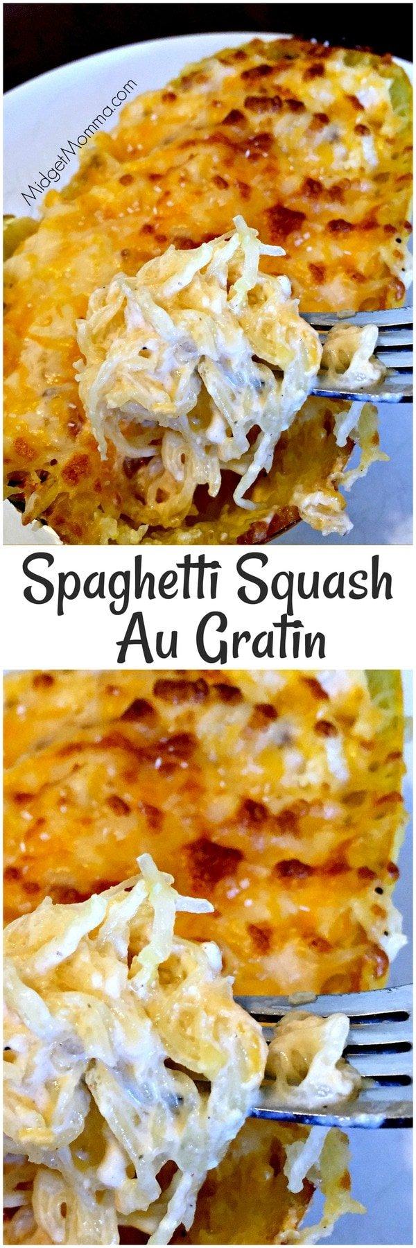Spaghetti Squash Au Gratin Low carb, All Veggie & Amazing