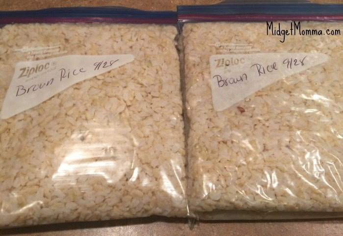 how to freeze rice in the freezer