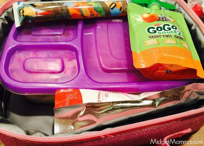 packed lunchbox