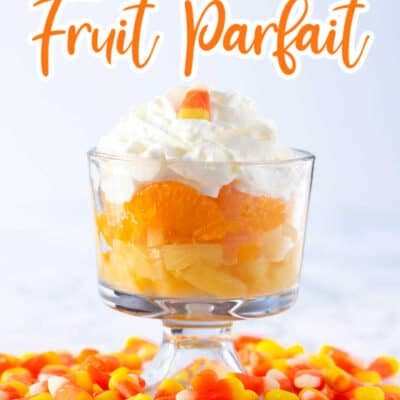 Candy Corn Fruit Parfaits recipe