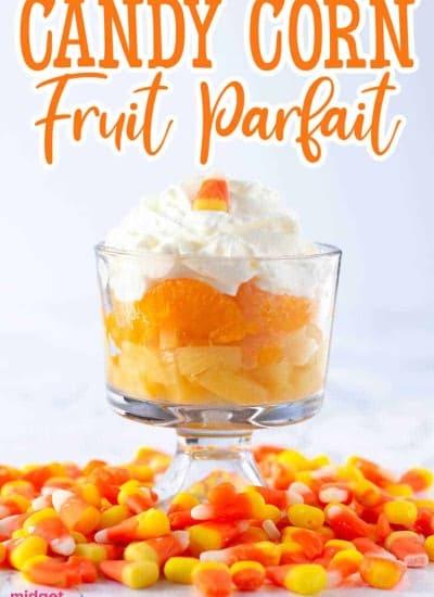 Candy Corn Fruit Parfaits recipe