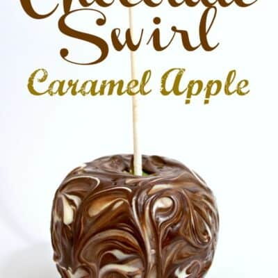 Chocolate Swirl Caramel Apple. Homemade caramel apple, swirled in amazing chocolate gives you one tasty treat with these Chocolate Swirl Caramel Apples
