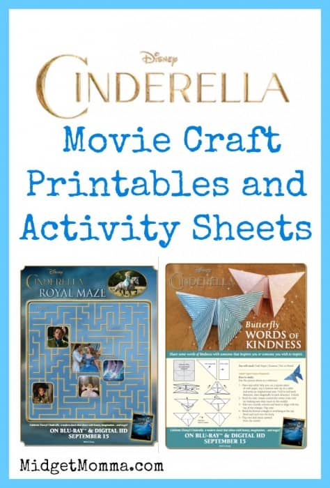 Cinderella Movie Craft and Activity Printable Sets