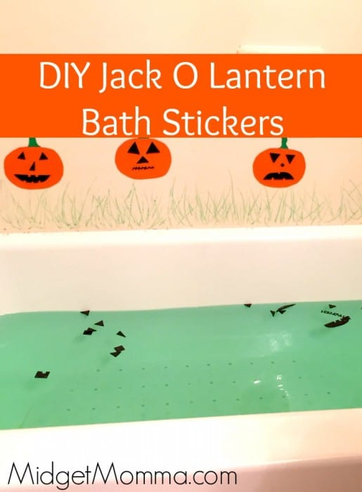 DIY Jack O Lantern Bath Stickers