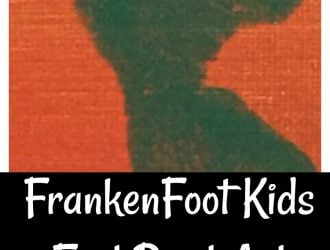 FrankenFoot Kids Foot Print Art