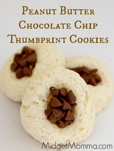 Peanut butter Chocolate Chip Thumbprint Cookies