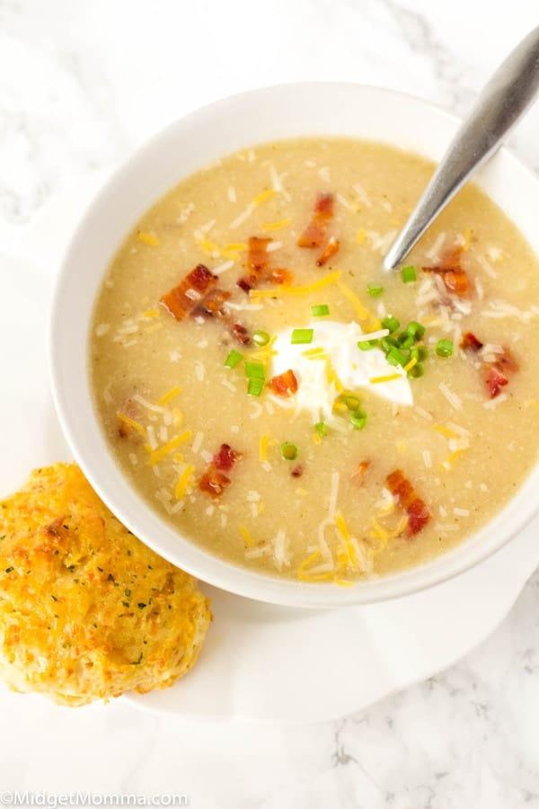 a bowl of Potato Cauliflower Soup Recipe