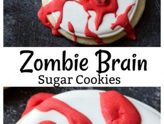 Zombie Brain Cookies | Homemade Sugar Cookies