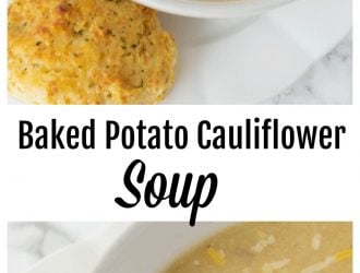 Baked Potato Cauliflower Soup