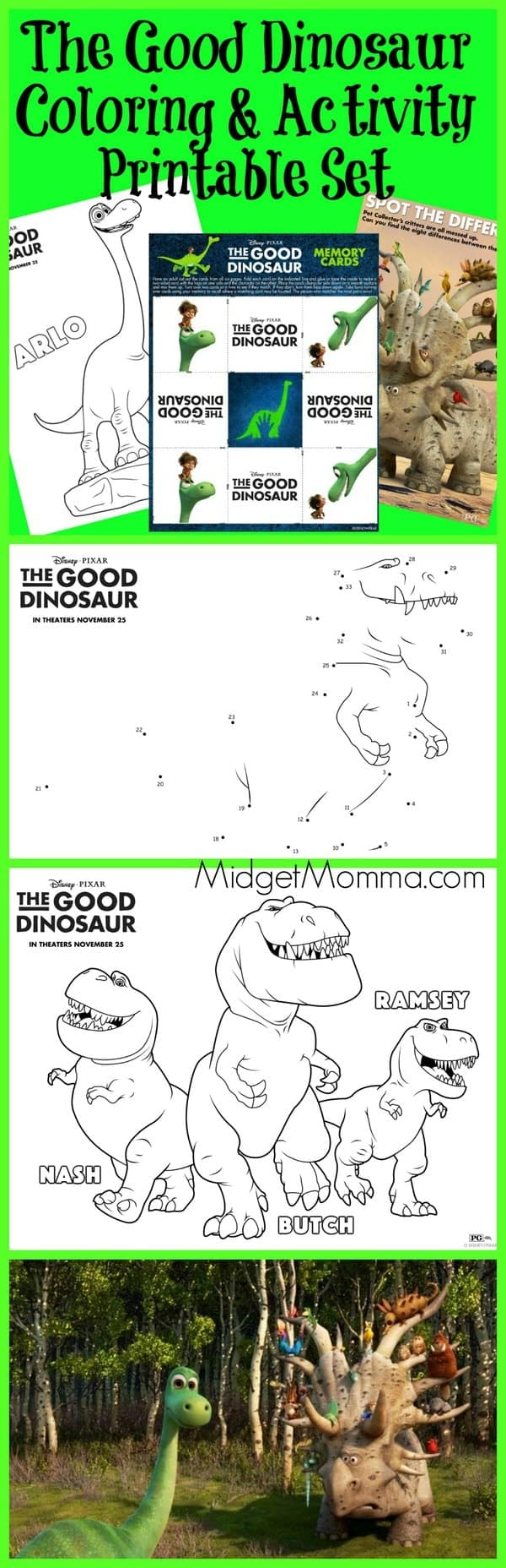 The Good Dinosaur Printable Coloring Pages