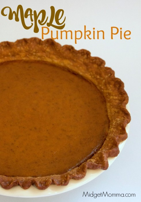 Maple Pumpkin Pie. So much better then store bought, this Maple Pumpkin Pie will be a huge hit at your Thanksgiving dinner!
