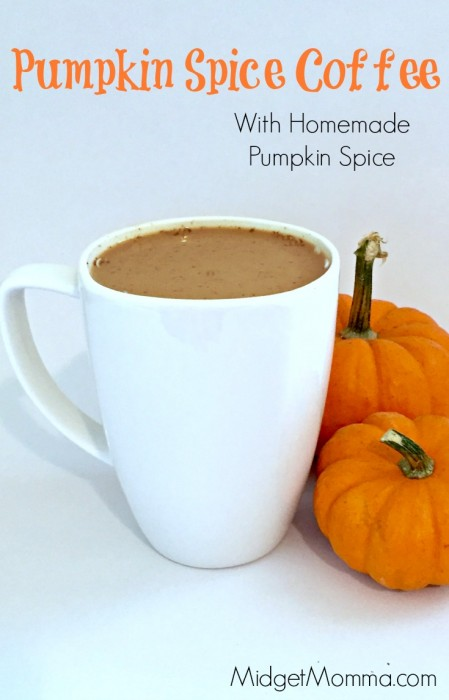 Pumpkin Spice Coffee. Made with homemade pumpkin spice mix, this pumpkin spice coffee is amazing! Make it right at home & so easy to make Pumpkin Spice