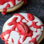 zombie brain sugar cookies
