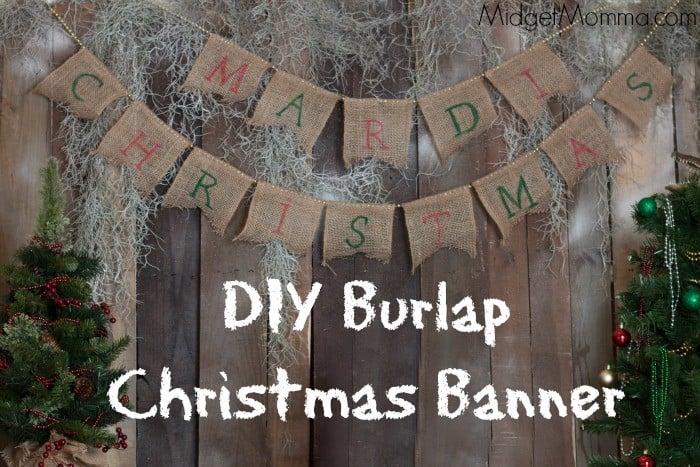 diy burlap christmas banner - Burlap Christmas Banner