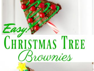 Christmas Tree Brownies made with Homemade Brownies Recipe!