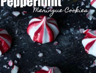 Peppermint Meringues Cookies