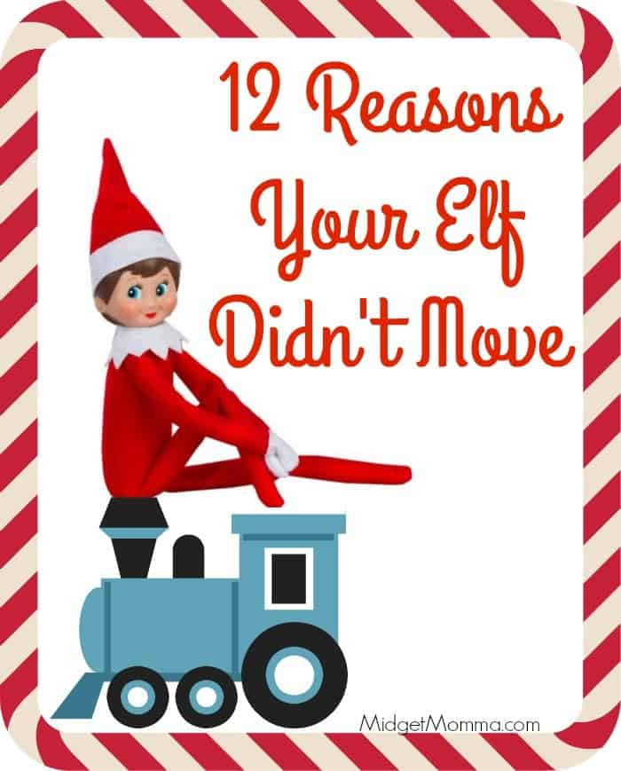 Reasons I Did Not Move The Elf On Shelf
