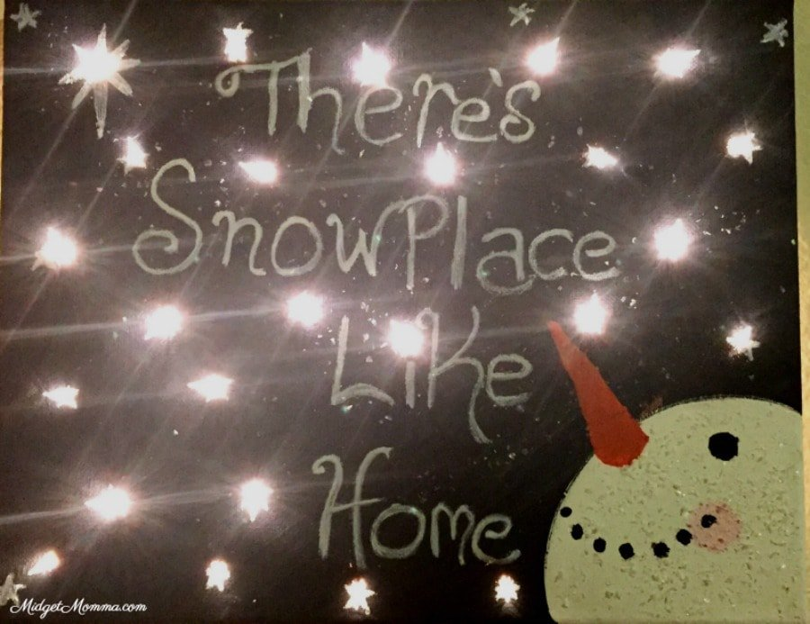 Snow Place Like Home DIY Canvas