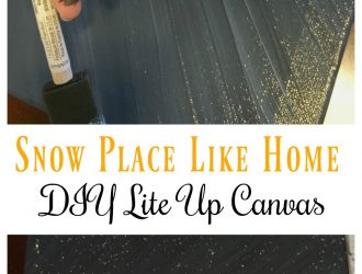 Snow Place like home DIY Lite Up Canvas