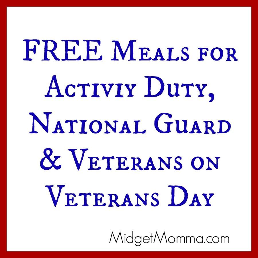 Free Veterans Food Today