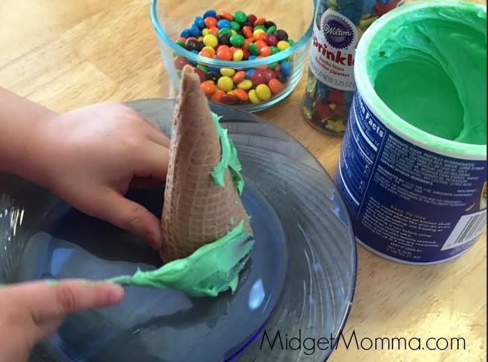 Ice Cream Cone TreesKids craft