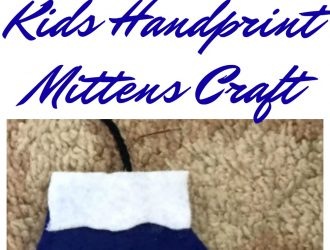 Kids Handprint Mittens Craft