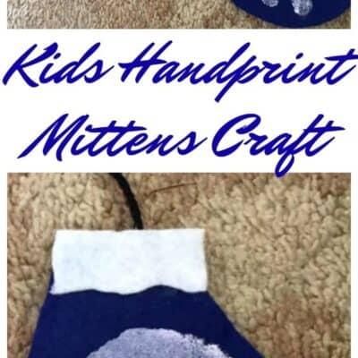 Kids Handprint Mittens Craft
