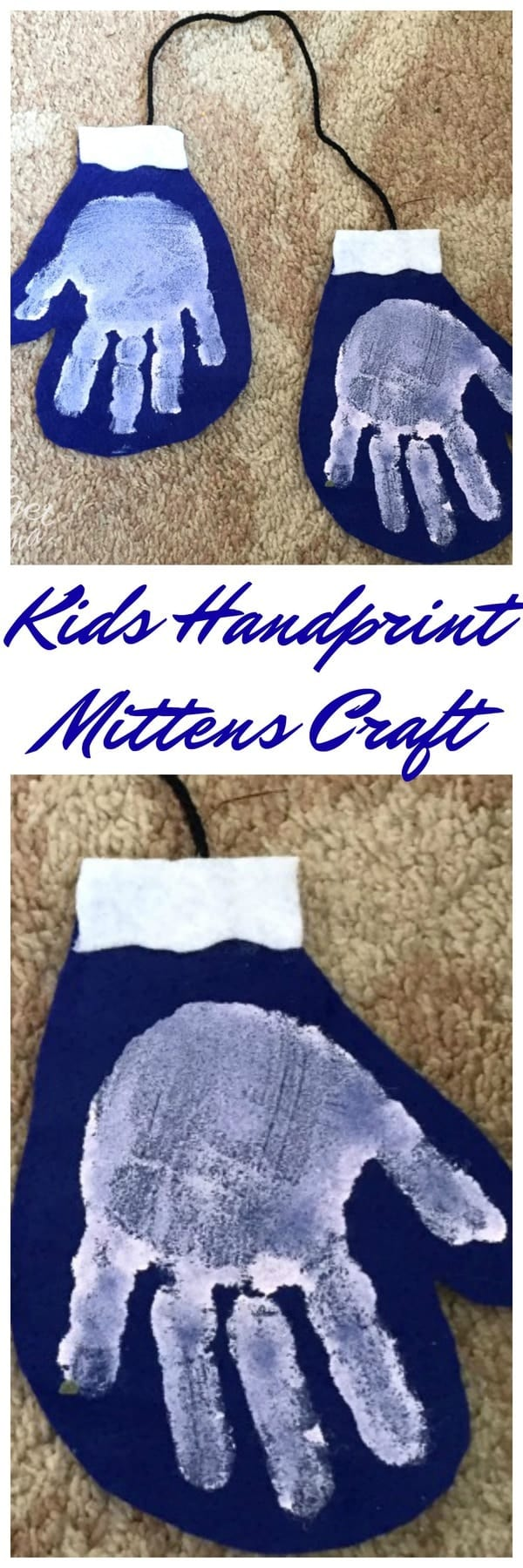 Quick And Easy Kids Handprint Mittens Craft For Kids