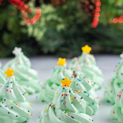 Meringue Christmas Tree Cookies