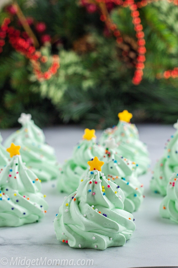 Meringue Christmas Tree Cookies
